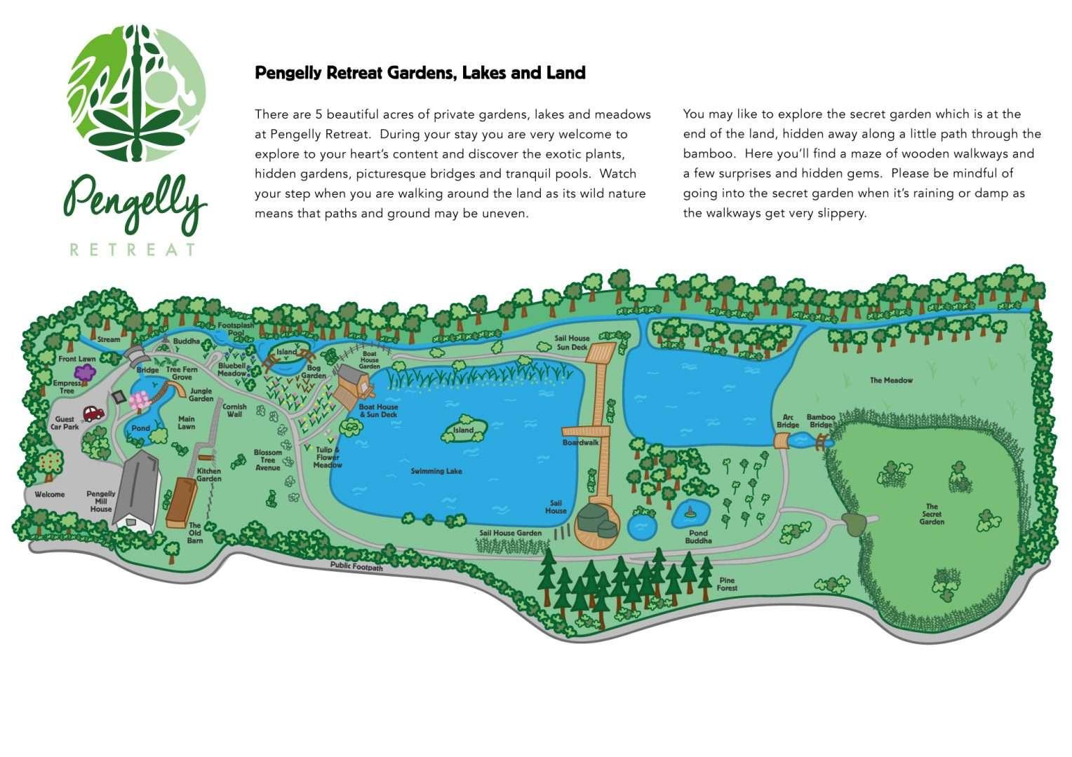 Pengelly Retreat map