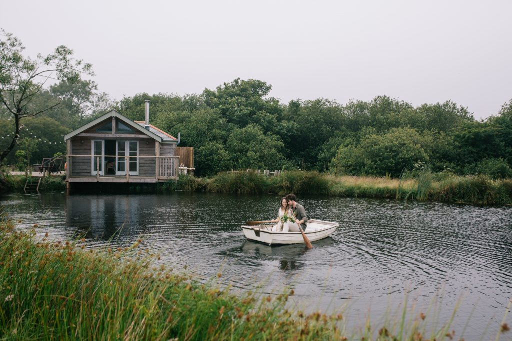 Romantic small weddings in Cornwall.  Wild swimming lakes and boat trips.
